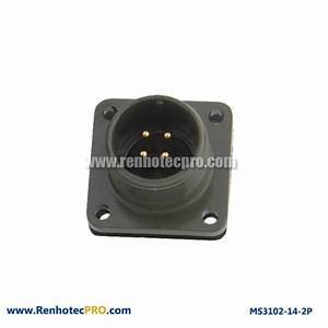 MS 5015 Connector 4 Pin Flange Mount Plug MS 3102 ...