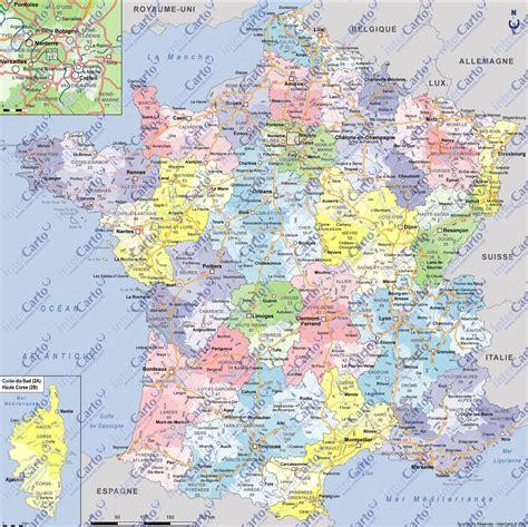Carte Département Ville by Carte De D 233 Partements Villes Et R 233 Gions Arts Et