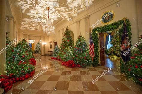 white house christmas holiday decorations  display