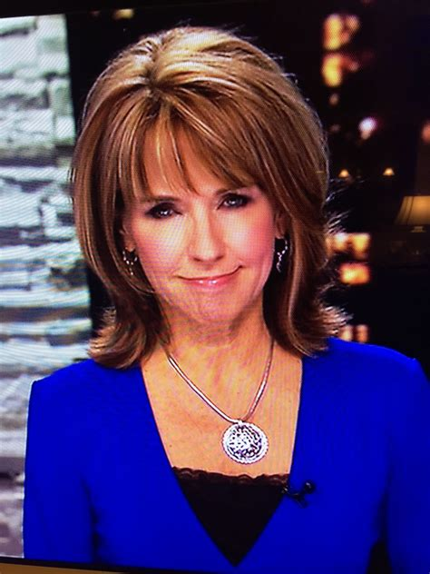 Modern Flip Hairdo On News Anchor Kim Christiansen For