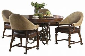 Highlands Round Game Table - Traditional - Dining Tables