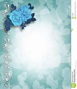 wedding or party invitation blue roses stock illustration With wedding invitation template aqua blue