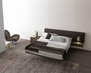 Lit Moderne Design : lit double moderne 40 mod les de design contemporain ~ Nature-et-papiers.com Idées de Décoration