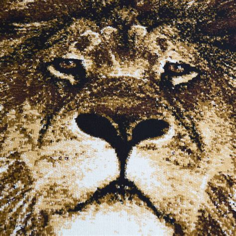 african lion lioness big cat beige area rug king
