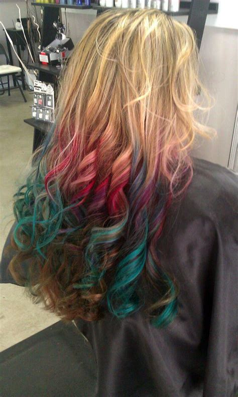 This Multi Colored Dip Dyed Look Called Rainbow Ombré