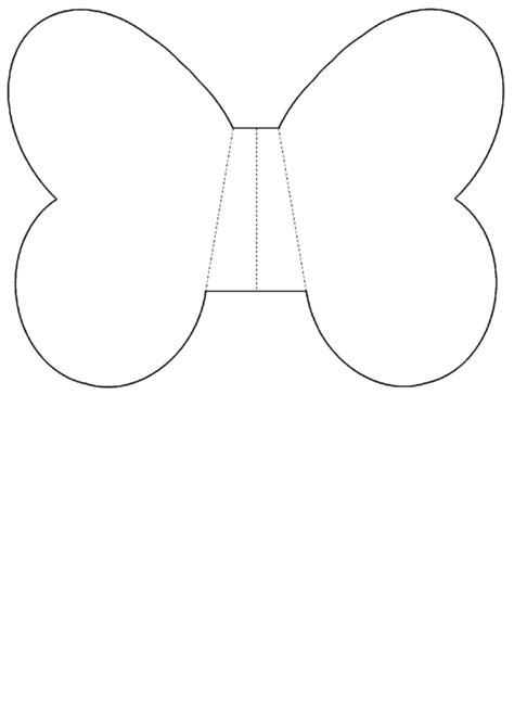 foldable butterfly wing template printable
