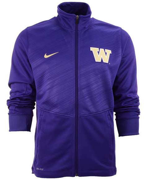 Nike Men Washington Huskies Warp Full Zip Jacket