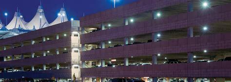 led parking garage airport parking lighting energy