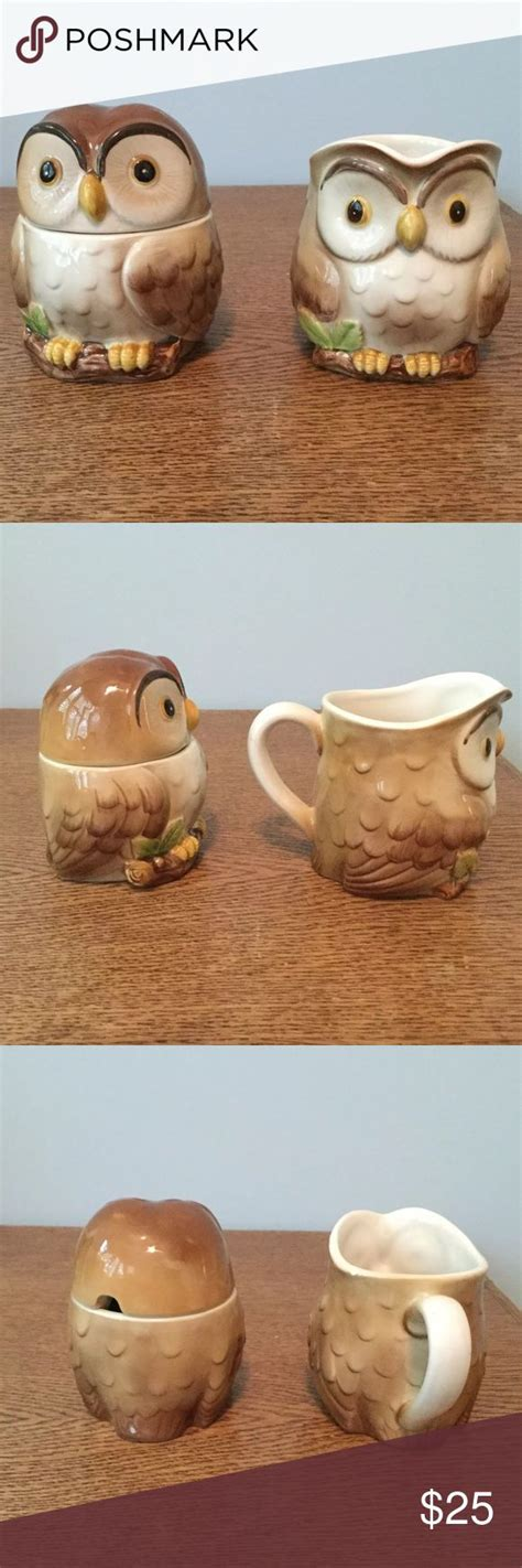 It gave me and my company friends the luxury of sampling the taste of a brewed coffee with the richness of cream and with a not so sweet blend. OWL Creamer And Sugar Bowl Vintage Otagiri | Sugar bowl ...