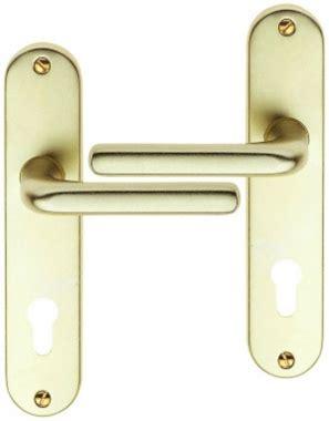 poign 233 e de porte d entr 233 e pas cher en aluminium anodis 233 chagne sur plaque cl 233 i entraxe 165