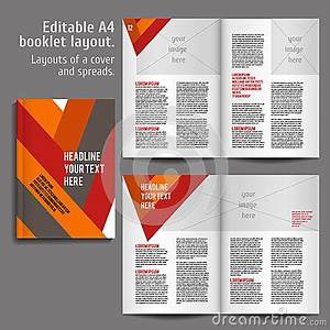 sample business reports a4 book layout design template stock vector image 57980361