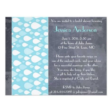 customized bridal shower invitations zazzlecom