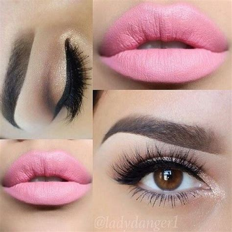 perfect pink lips eye makeup pictures