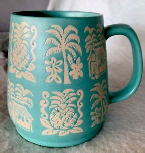 Or if you like you can either drop cash or card payment in, or contact me for bank details! Opalhouse Tiki Coffee Mug Cup Stoneware Matte Teal Hut Palm Pineapple 24oz | eBay