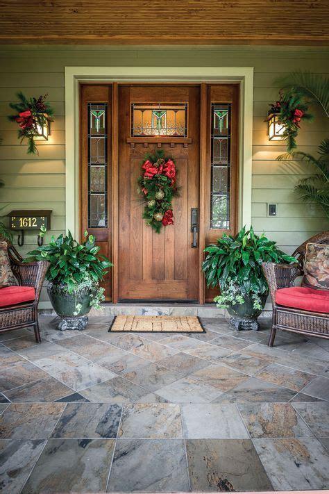 nice idea   wreath suitable   craftsman style door  windows   upper portion