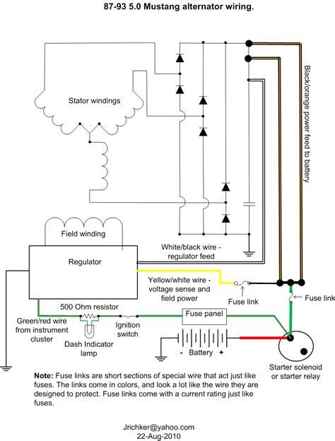 Electrical Alternator Wiring Mustang Forums Stangnet