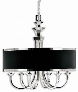Tuxedo light black shade chandelier traditional
