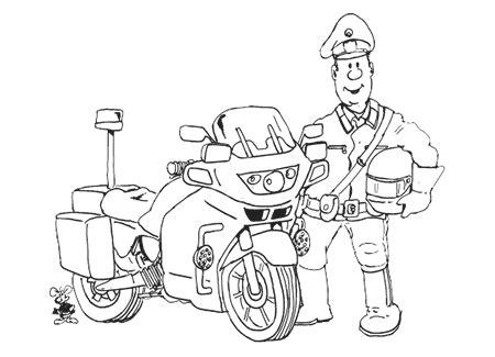 ausmalbild polizei motorrad  malvorlage polizei