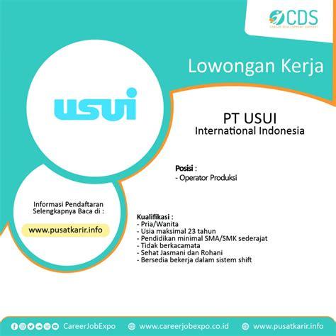 Sistem kerja cv obs grop indonesia ngawi : Lowongan Kerja PT USUI International Indonesia - Career Development Support (CDS) - Pelatihan ...