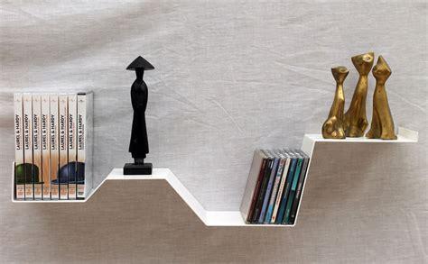 """Etagère Murale """"zig"""" étagère Murale Design Blanche Métal Salon"""