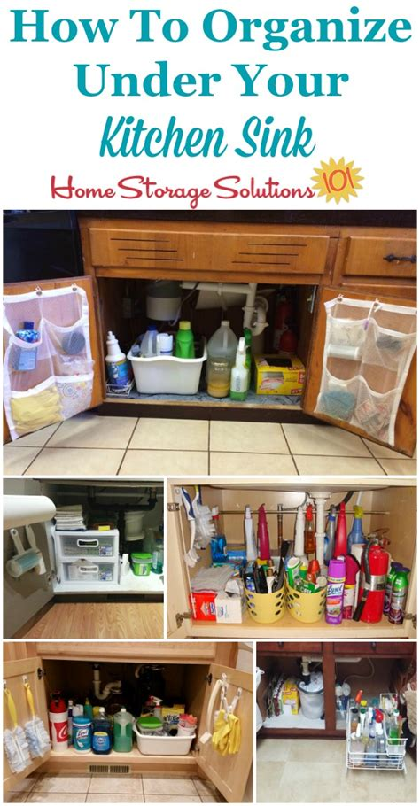 real solutions kitchen storage kitchen sink cabinet organization ideas you can use 4512