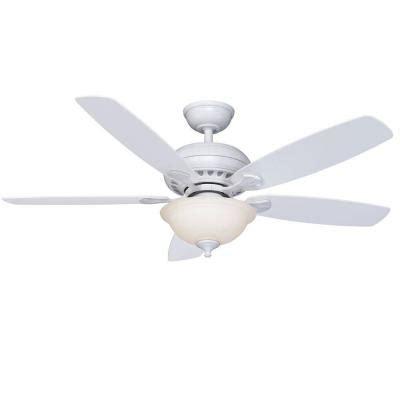 hton bay southwind 52 in matte white ceiling fan 52372