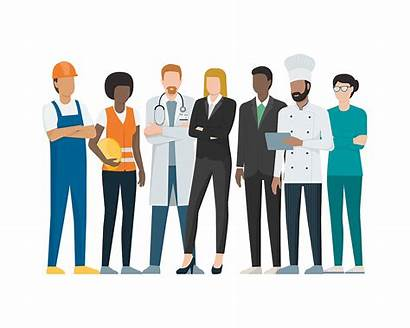 Labor Workers Vector Jobs Professional Together Different