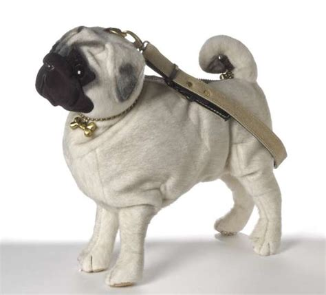 realistic doggie bags pug purses  affectionate