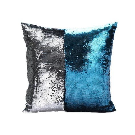 Sparkly Pillows 16 quot pillow cover mermaid sequins sparkle glitter