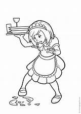 Cameriere Coloring Camerieri Waiters Camareras Camareros Disegni Waitresses Colorear Kellner Kellnerinnen Colorare Flash Varityskuvia Stampa Imprimir sketch template