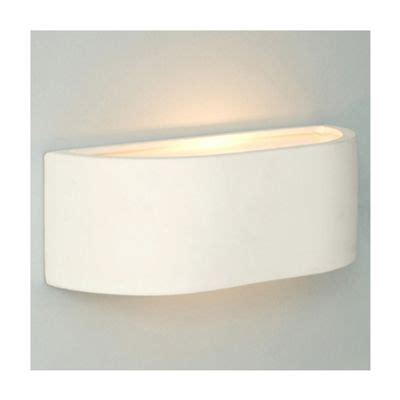 buy curved ceramic indoor wall light white from our flush