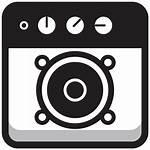 Musica Rotonda Altoparlante Quadrata Icona Vecteezy