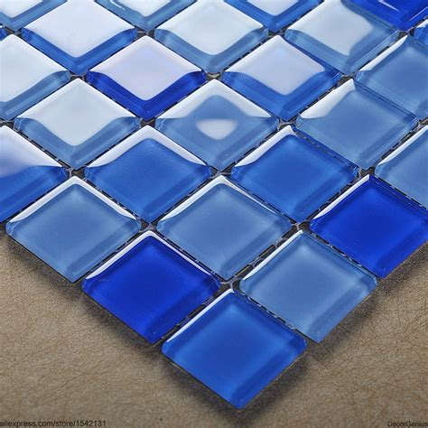 sales blue swimming pool wall tiles dggm062 glass