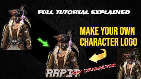 You can also make matching banners, channel art, and thumbnails, too! HOW TO MAKE A GAMING CHARACTER LOGO || FREE FIRE CHARACTER ...