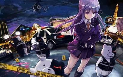 Danganronpa Despair Kirigiri Police Murder Anime Dangan