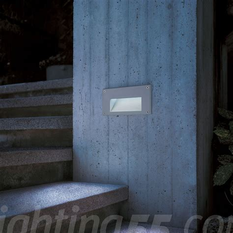 brick led downunder outdoor wall recessed light by slv
