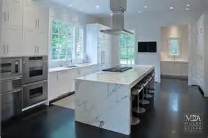 kitchen island with storage and seating waterfall island modern kitchen mdd architects