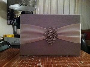 Our diy silk wrapped wedding invites weddingbee photo for Box invitations weddingbee