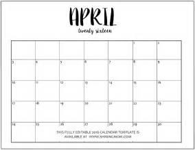 Editable Microsoft Word Calendar Template 2016