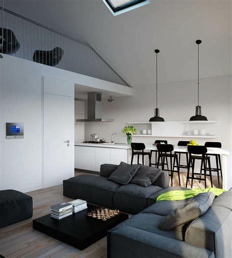 deco salon canape gris cuisine ouverte sur salon un bel espace ouvert