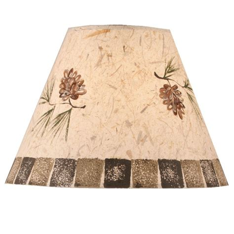 lodge style l shades stenciled pine cone l shade