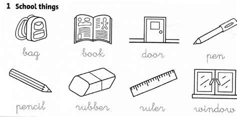 school objects worksheet for kindergarten worksheets school things