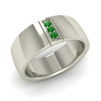 imperia s ring with emerald 0 11 carat emerald s rings in 14k white gold