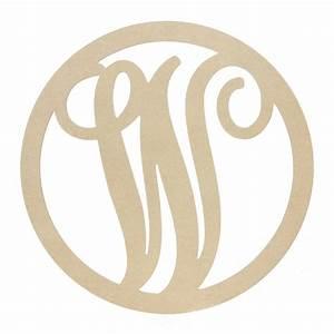 23quot script circle monogram wooden letter w ab2256 With monogram letter w