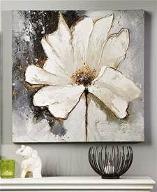 White Flower Paintings On Canvas