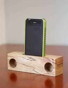 Hip Hardwood Amplifiers : wooden iphone speakers