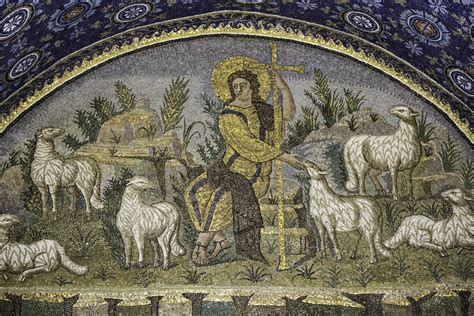 good shepherd    enters   gate