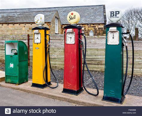 Garage Petrol by Fashioned Petrol Pumps At A Garage In The Black