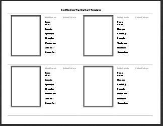 godgoddess trading card template