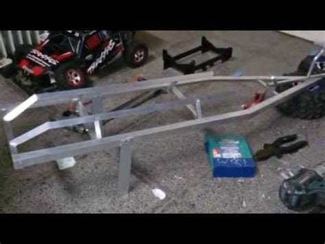 Traxxas Rc Boat Trailer by Rc Homemade Trailer For Traxxas Spartan Part 1 Youtube